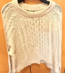 H&M Sweater Prljavo Bijelo M