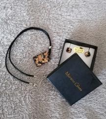 Murano Glass lančić i naušnice, pt. uključena