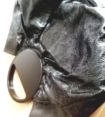 G. Armani kozna torba sa plexy ruckom