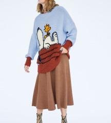 Zara pletena suknja
