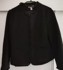 H&m sako od tvida, crne boje, 38