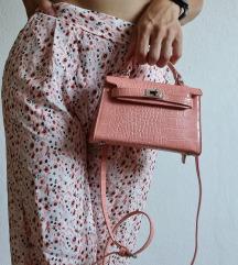 Mini roza torbica