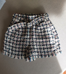 Bershka hlačice, tweed,S (ukljucena pt)