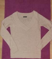 Rozi pulover sa V izrezom