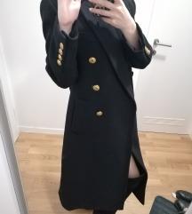 REZZ! Zara crni vuneni kaput