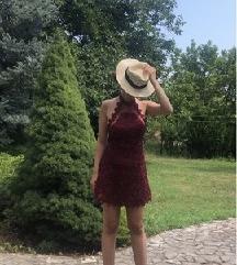 Asos bordo čipkana haljina