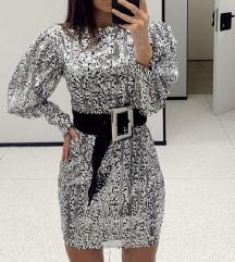 ZARA sequin haljina