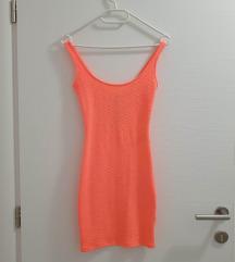 BERSHKA neon narančasta haljina