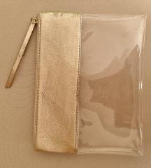 Nova prozirno zlatna torbica-pt u cijeni