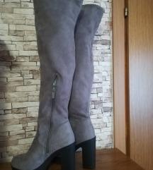 NOVO visoke sive čizme