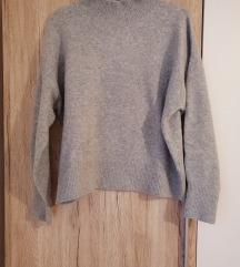 H&M pulover sivi SADA 60KN