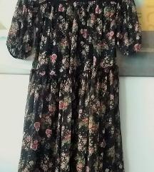 Voluminozna haljina cvjetnog printa