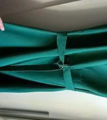 Zelena haljina na preklop L