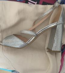Mass srebrene sandale / 36 velicina