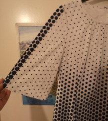 Plava točlasta vintage haljina