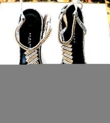Albano nove kožne sandale sa Swarovski kristalima