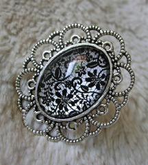 Prsten ''Metallic lace'' (ručni rad)