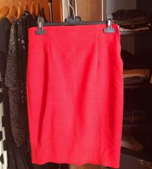 Zara crvena pencil suknja