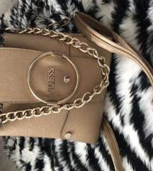 Guess torbica bež/zlatna