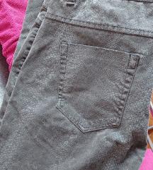 Zara sive hlače snake print