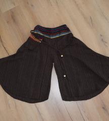 Pamučne suknja hlače sa torbicom