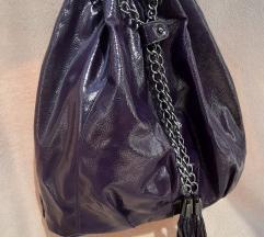 Nova ljubicasta lak torba