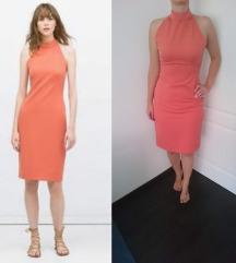Zara haljina boje breskve