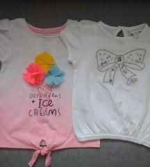 Majice za djevojčice 2kom
