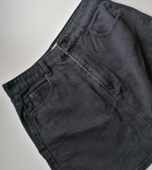 BERSHKA crna traper suknja A kroja L