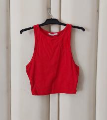 Zara crveni crop top