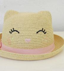 H&M maca slamnati šešir za cure 122 / 128