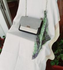 MANGO multicolor kožna torbica&marama gratis