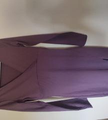 H&M ljubičasta uska haljina s prorezom