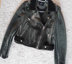 Bershka biker jakna od velura