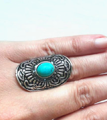 Unikatni prsten sa tirkizom
