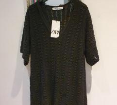 Zara pletena crna haljina