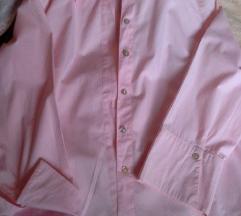 ženska košulja bebi roza bije dugi rukav