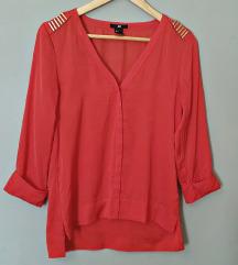 Crvena oversized bluza