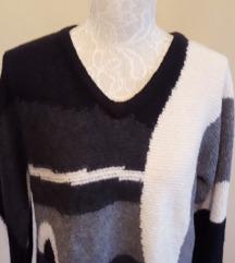 Vintage pleteni pulover vel.m/l