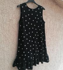 Reserved crna haljina s točkicama