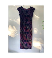 Nova TOP SHOP velvet haljina s printom