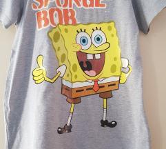 Majica kratkih rukava siva SpužvaBob
