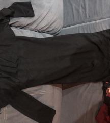 Zara crna haljina mid duzine