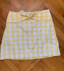 MANGO nova nenošena karirana suknja M