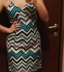 H&M šarena haljina na vezanje oko vrata