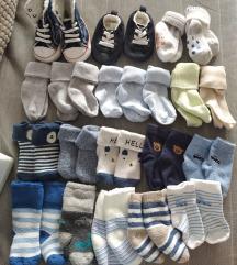 Lot čarapica za male bebe h&m, next
