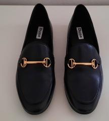 Dune London crne kožne loaferice