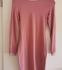 Roza duža haljinica