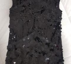 Crna šljokičava haljina