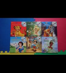 Knjige za djecu, najljepše Disney bajke sa cdima
